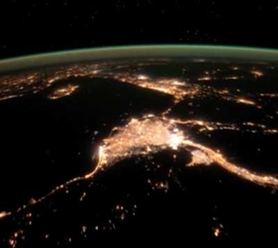 Libya to Turkey at Night