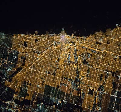 Night Image of Chicago