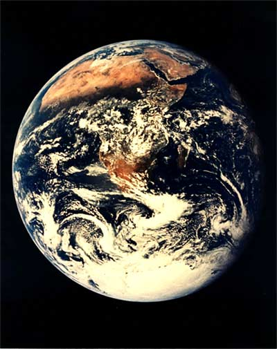 Eastern hemisphere of Earth from space